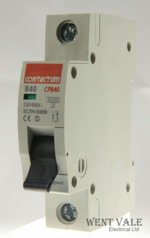 Contactum CP Range - CPB40-B40/1 - 40a Type B Single Pole MCB Un-used